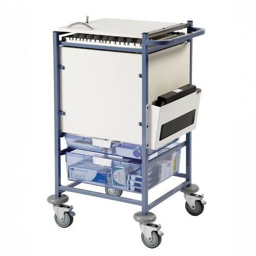 Sunflower Medium Medical Notes Trolley - Enclosed Sides & Locking Top
