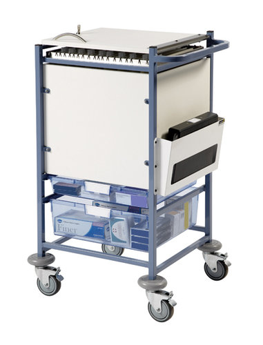 Sunflower Small Medical Notes Trolley - Enclosed Sides & Locking Top