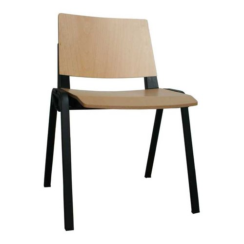 Medi-Beam Waiting Room Chair (Black Frame/Wood)
