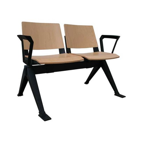 Medi-Beam Double Seating with Arms (2 Seats/Wooden)