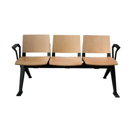 Medi-Beam Triple Seating with Arms (3 Seats/Wooden)