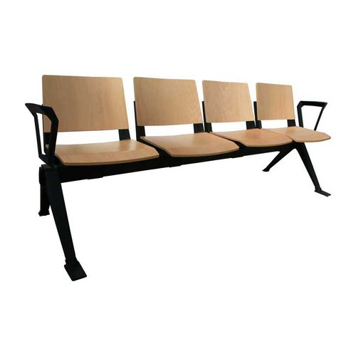 Medi-Beam Quad Seating with Arms (4 Seats/Wooden)