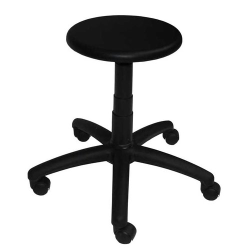 Black PU Operators Stool