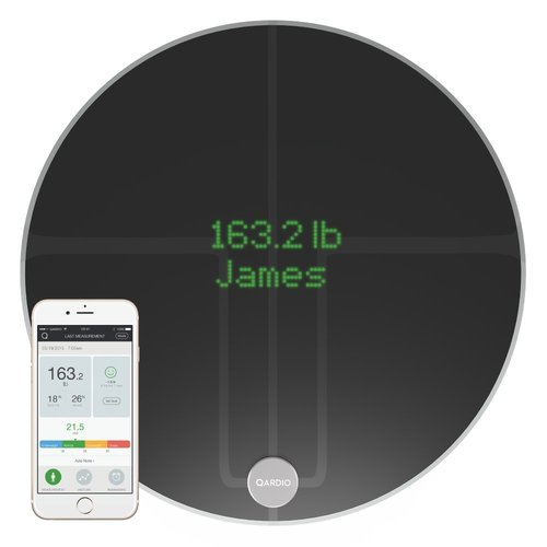 QardioBase 2 - Wireless Smart Scale and Body Composition Analyser - Black (Non-Medical)