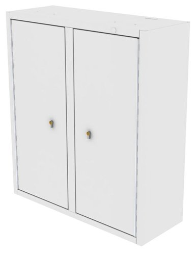 Drug Storage Cabinet Wall Mountable with Two Euro Locks - 800 x 300 x 900mm