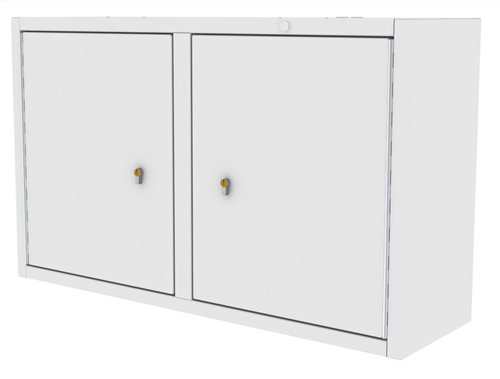 Drug Storage Cabinet Wall Mountable with Two Euro Locks - 1000 x 300 x 600mm