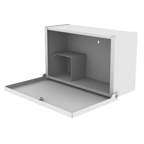 Shuttleworth Wall Mounted Patient Drug Cabinet with Cam Lock - 430 x 155 x 260mm