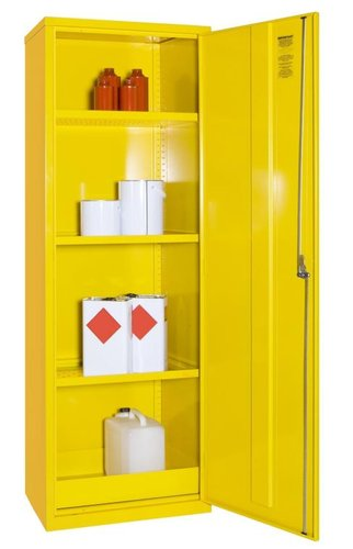Hazardous Substance Cabinet with 20L Sump & Three Shelves – 610 x 457 x 1830mm