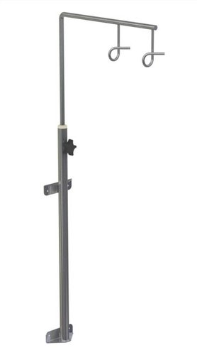 Wall Mounted Stainless Steel Two Hook Height Adjustable IV Drip Stand