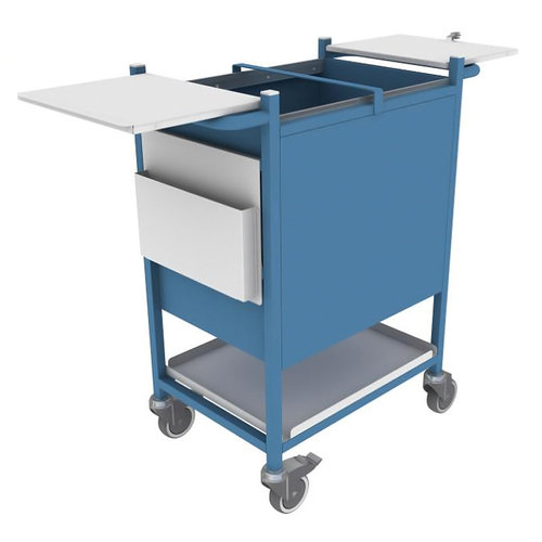 Shuttleworth Blue Case Note Trolley with Cam Lock - 800 x 467 x 947.5mm