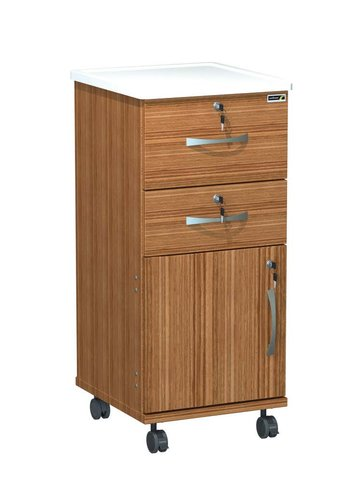 Sunflower Axis Plus Bedside Locker - Keyed Alike - White Upstand