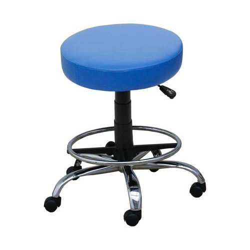Medi-Plinth Operators Stool with Foot Ring - Ash Grey