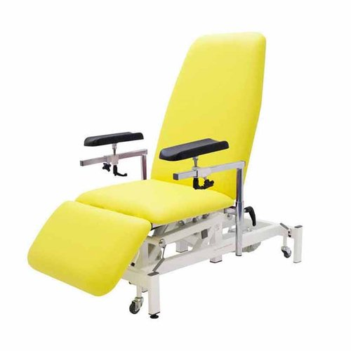 Medi-Plinth Phlebotomy Chair with Single Leg - Electric Ash Grey