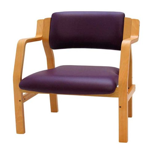 Medi-Plinth Bariatric Wood Frame Waiting Room Chair - Ash Grey