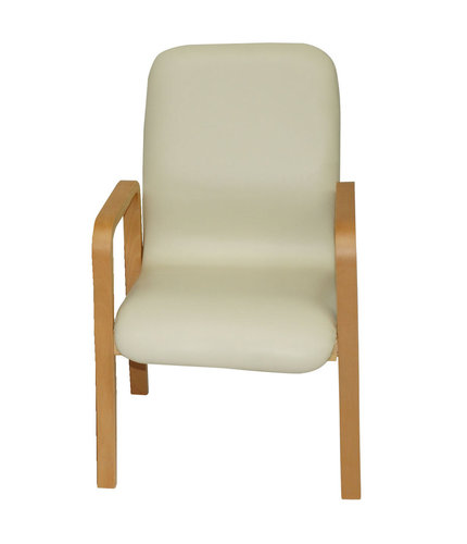 Deluxe Wooden Waiting Room Chair with Arms Single - Apple Mint