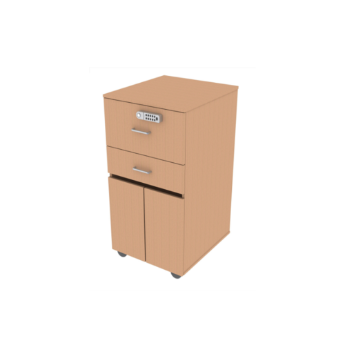 Shuttleworth Bedside Cabinet with Drawer & Digital Lock - Beech