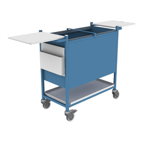 Shuttleworth Large Blue Case Note Trolley with Cam Lock - 470 x 530 x 980mm