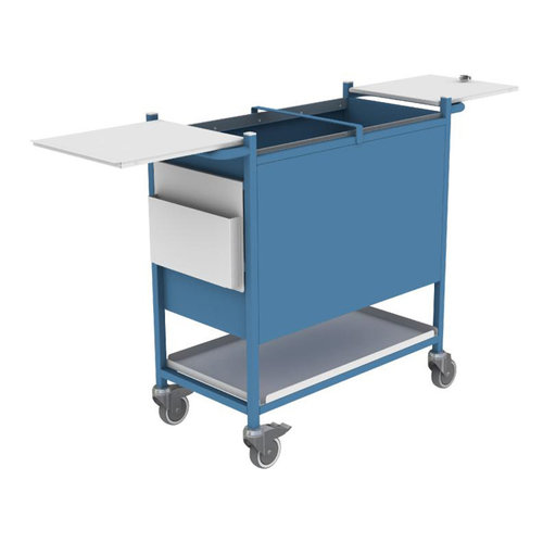 Shuttleworth Large Blue Case Note Trolley with Digital Lock - 470 x 530 x 980mm