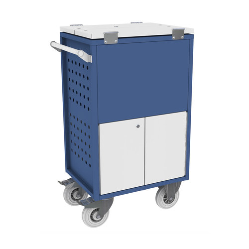 Records Trolley with Locked Upper & Lower Boxes