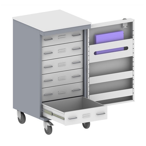 Shuttleworth Sepsis Trolley with Six Drawers and Labels