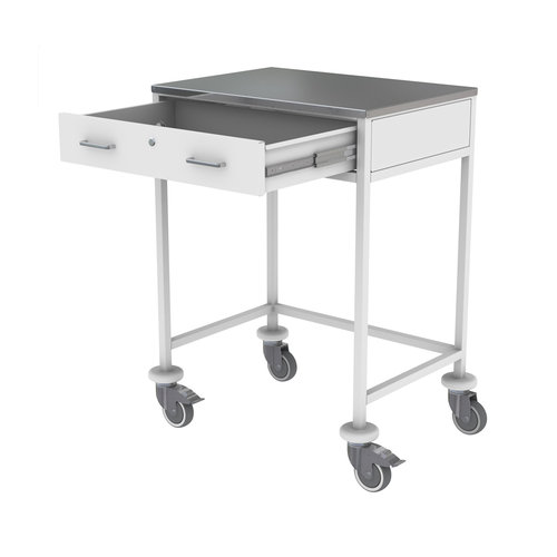 Shuttleworth Chart Board Trolley with Stainless Steel Top
