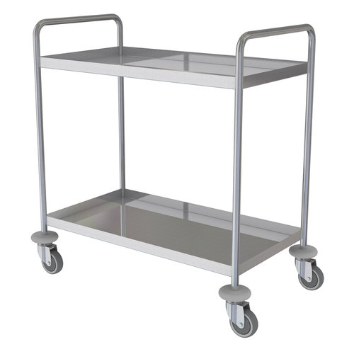 Shuttleworth Stainless Steel Two Shelf General Purple Trolley