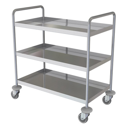Shuttleworth Stainless Steel Three Shelf General Purple Trolley