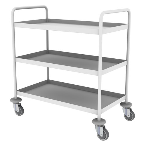 Shuttleworth Mild Steel Three Shelf General Purple Trolley