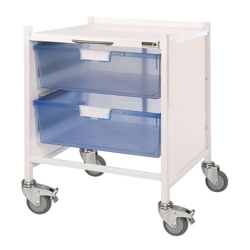 Sunflower VISTA 15 Extra Low Trolley - 2 Double Depth Blue Trays