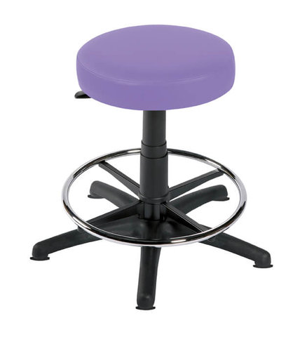 Sunflower Gas Lift Examination Stool with Foot Ring & Glides - Beige