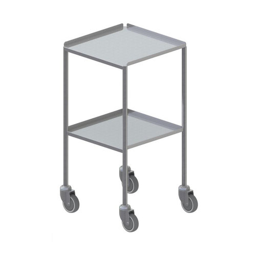 Shuttleworth Small Stainless Steel Dressing Trolley - Edged-up Fixed Shelves