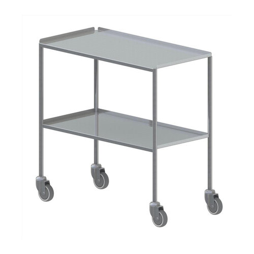 Shuttleworth XL Stainless Steel Dressing Trolley - Edged-up Fixed Shelves