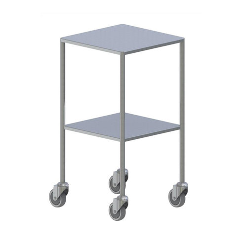 Shuttleworth Small Stainless Steel Dressing Trolley - Flat Fixed Shelves