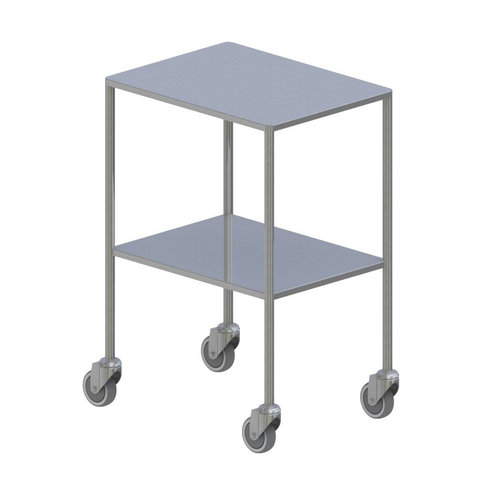 Shuttleworth Medium Stainless Steel Dressing Trolley - Flat Fixed Shelves