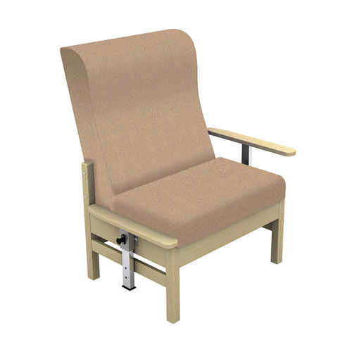 Sunflower Atlas 40st. Chair with Drop Arms - Beige Anti-Bacterial Inter/Vene Upholstery