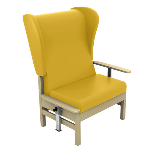 Sunflower Atlas 40st. Chair, Drop Arms & Wings - Beige Anti-Bacterial Vinyl