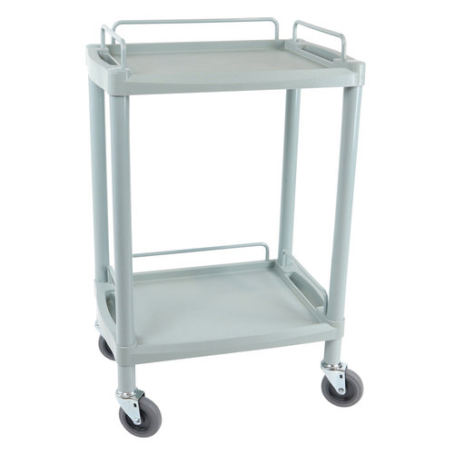 Handy Small Clinical Dressing Trolley – 2 Shelves – Grey