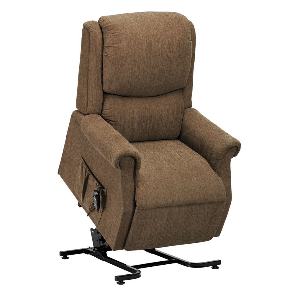 Indiana Single Motor Rise & Recline Armchair Biscuit HCE