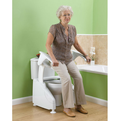 Solo Toilet Lift With Arms - Left Operating Switch