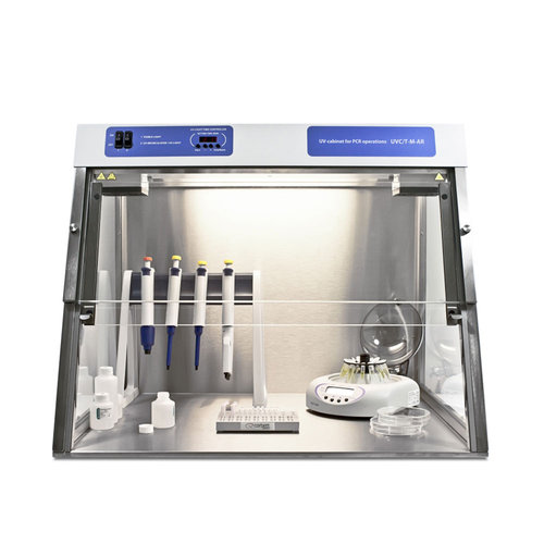 Medium UV Cabinet/PCR Workstation with Dual UV Lamp, Recirculator & Internal Power Outlet
